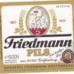 Brauerei Friedmann/Gräfenberg: Pils (Nr. 1246)