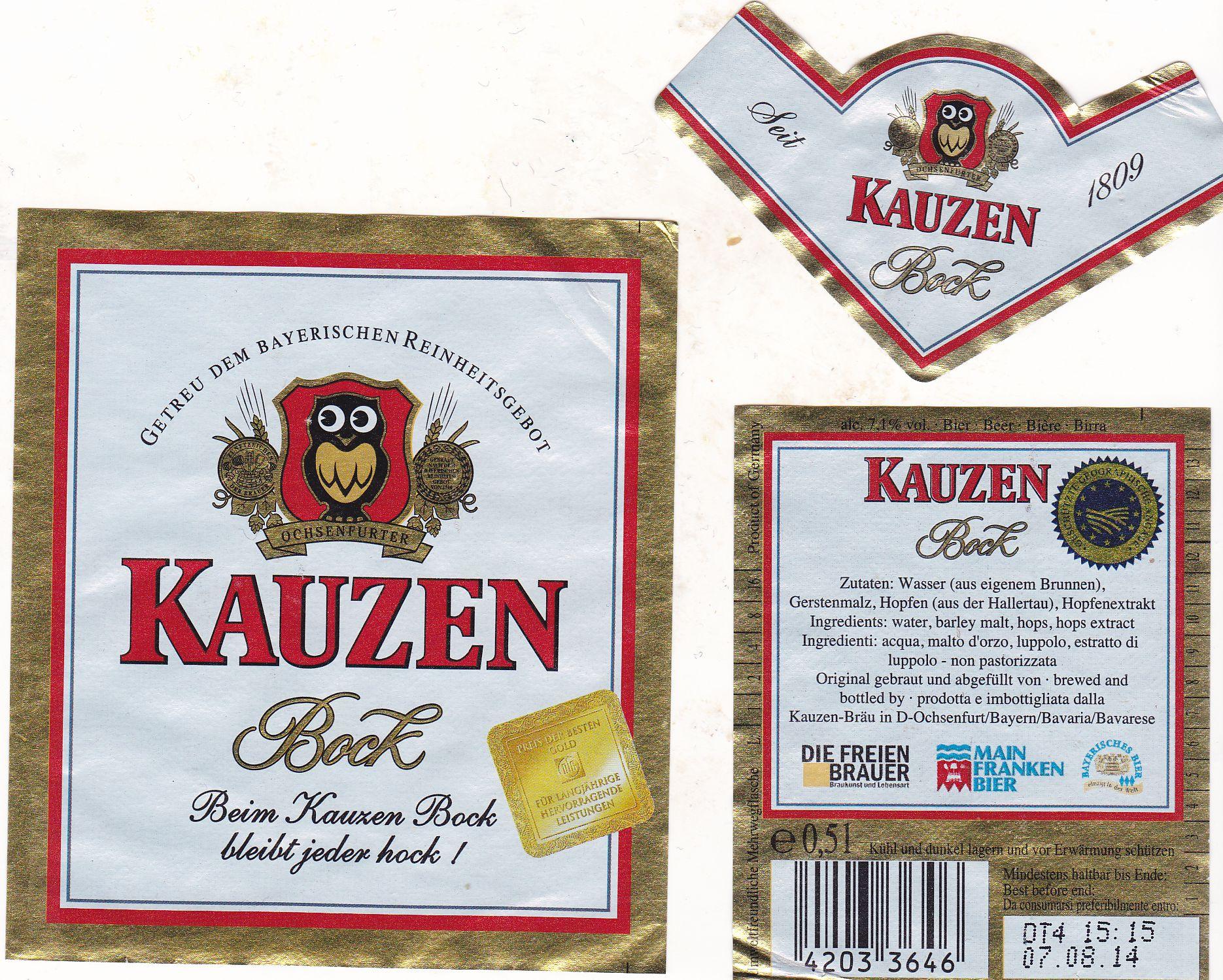 Kauzen Bräu/Ochsenfurt: Bock (Nr. 1477) – Bier-Scout