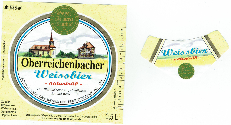 Brauereigasthof Geyer Oberreichenbach Weissbier Naturtrub Nr 1649 Bier Scout