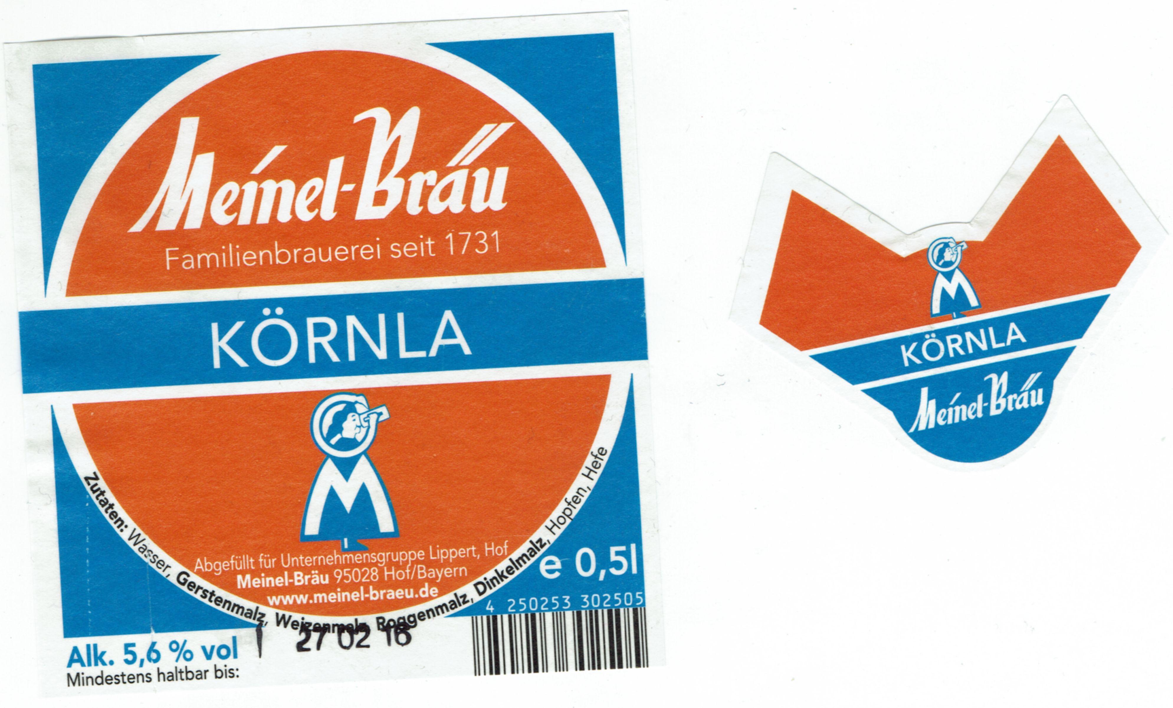 Brauerei Meinel/Hof: Körnla (Nr. 1816) – Bier-Scout