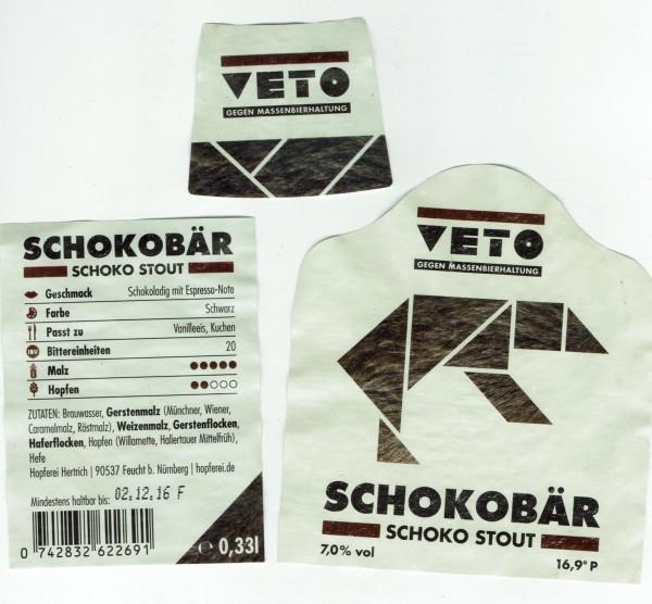 Schokobär Etikett