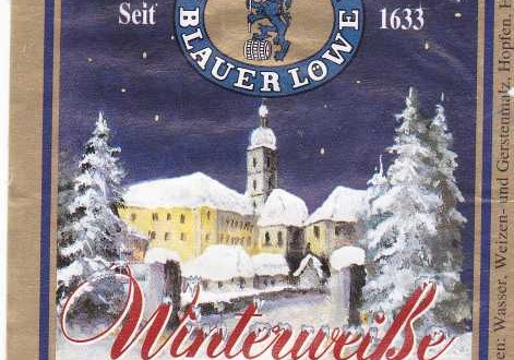 Blauer Löwe Winterweiße