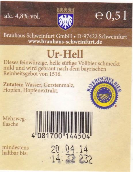 Brauhaus Schweinfurt Ur-Hell3