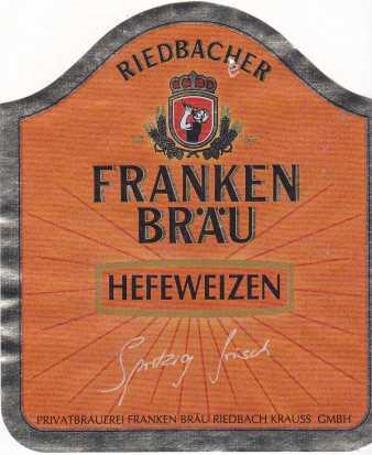 Franken Bräu Hefeweizen 1