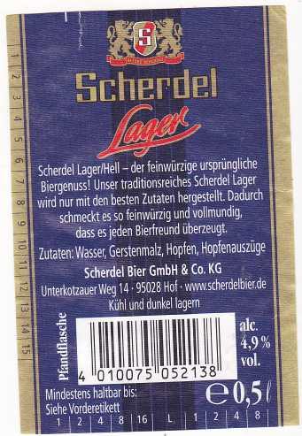 Scherdel Lager 3