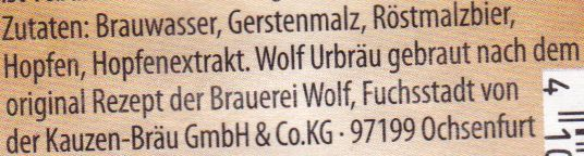 Wolf UrbräuDetail