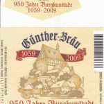 Günther Bräu/Burgkunstadt: 950 Jahre Burgkunstadt Jubiläumsbier (Nr. 30)