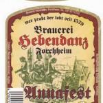 Brauerei Hebendanz/Forchheim: Annafest Bier (Nr. 199)