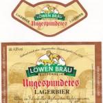 Löwenbräu/Buttenheim: Ungespundetes Lagerbier (Nr. 149)