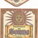 Brauerei Sonne/Bischberg: Sonnen Bock (Nr. 122)