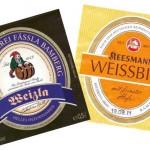 Brauerei Fässla/Bamberg: Weizla Hell (Nr. 164) & Brauerei Keesmann/Bamberg: Weissbier (Nr. 165)