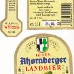 Ahornberger Landbier/Ahornberg: Ahornberger Landbier würzig mild (Nr. 278)