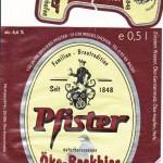 Brauerei Pfister/Weigelshofen: Öko-Bockbier (Nr. 373)