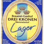 Brauerei Drei Kronen/Memmelsdorf: Lager (Nr. 411)