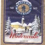 Brauerei Blauer Löwe/Höchstadt a.d. Aisch: Winterweiße (Nr. 1156)