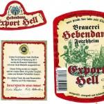Brauerei Hebendanz/Forchheim: Export Hell (Nr. 95)