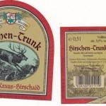 Brauerei Kraus/Hirschaid: Hirschen-Trunk (Nr. 156)