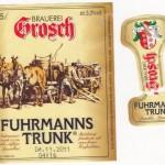 Brauerei Grosch/Rödental: Fuhrmannstrunk (Nr. 160)