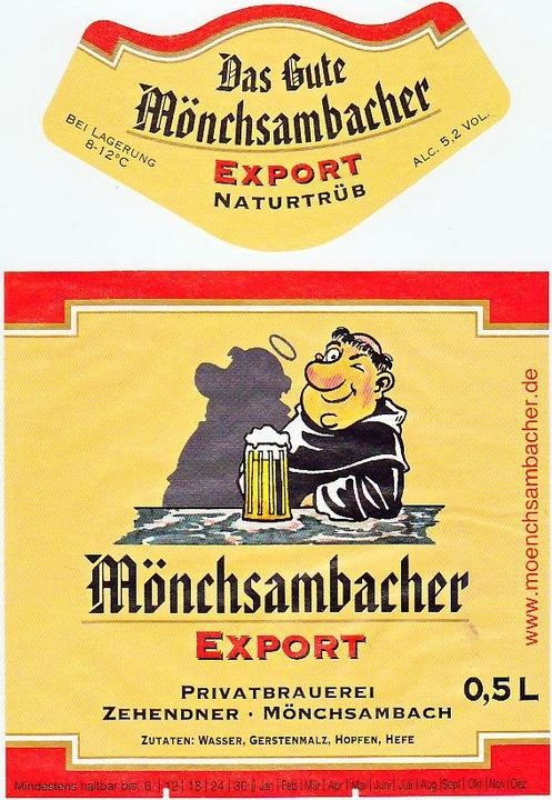 Brauerei Zehendner/Mönchsambach: Export (Nr. 167)