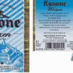 Brauerei Kanone/Schnaittach: Weizen (Nr. 255)