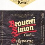 Brauerei Simon/Lauf a.d. Pegnitz: Schwarze Kuni (Nr. 381)